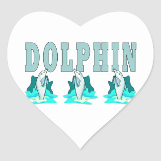Demostración del delfín pegatina en forma de corazón