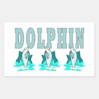 Demostración del delfín pegatina rectangular