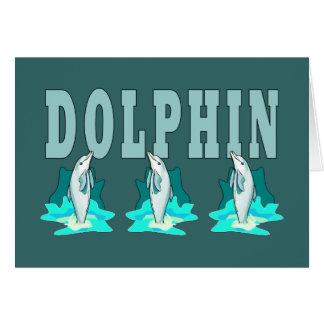 Demostración del delfín tarjeta pequeña