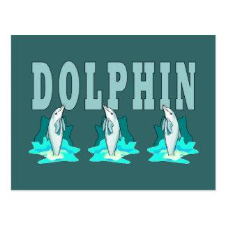 Demostración del delfín tarjeta postal