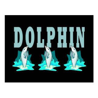Demostración del delfín tarjetas postales