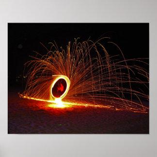 Demostración del fuego en la isla de la phi de la impresiones