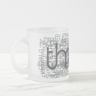 Demostración del hilo taza de café esmerilada