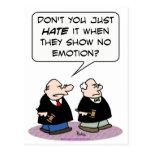 demostración del odio del juez ninguna emoción tarjetas postales
