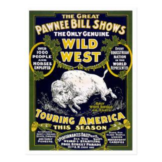 Demostración del oeste salvaje, 1903 postal