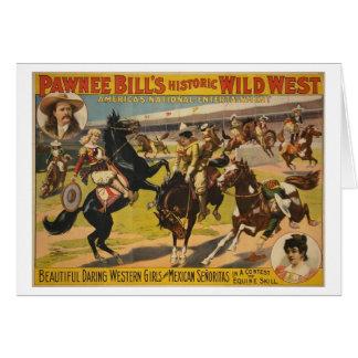 Demostración del oeste salvaje de Bill del Pawnee Tarjeton