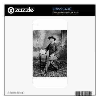 Demostración del oeste salvaje de Buffalo Bill Calcomanía Para iPhone 4S