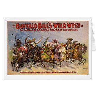 Demostración del oeste salvaje de Buffalo Bill Felicitación