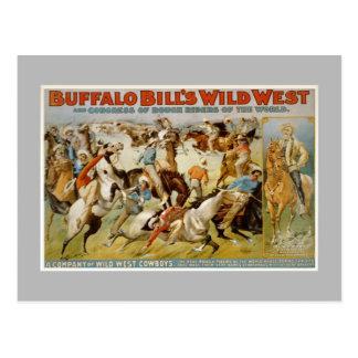 Demostración del oeste salvaje de Buffalo Bill, Tarjeta Postal