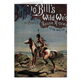 Demostración del oeste salvaje de los Buffalo Bill Felicitaciones