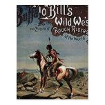Demostración del oeste salvaje de los Buffalo Bill Tarjeta Postal