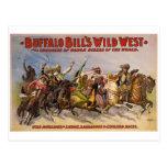Demostración del oeste salvaje de los Buffalo Bill Tarjetas Postales