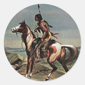 Demostración del oeste salvaje de los Buffalo Pegatina Redonda