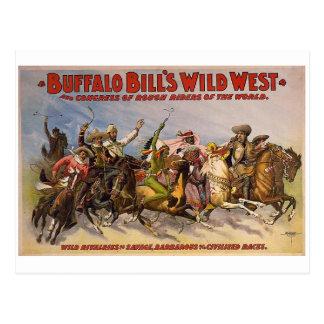 Demostración del oeste salvaje de los Buffalo Postales