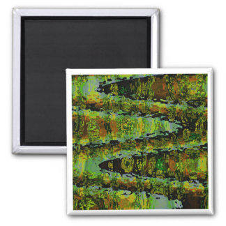 Demostración del verde esmeralda - ondas, panorama imán cuadrado