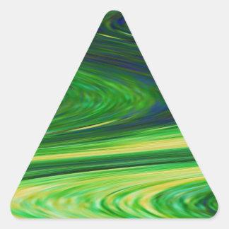 Demostración del verde esmeralda - ondas, panorama pegatina triangular