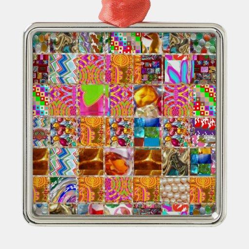Demostración feliz del collage de la energía: De l Ornaments Para Arbol De Navidad