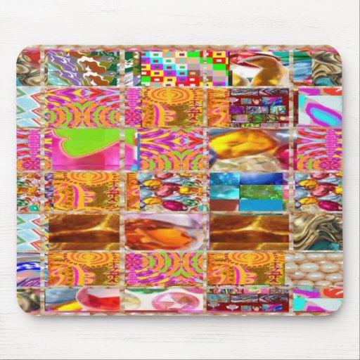 Demostración feliz del collage de la energía: De l Tapete De Raton