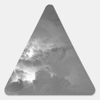 Demostración ligera blanco y negro pegatina triangular