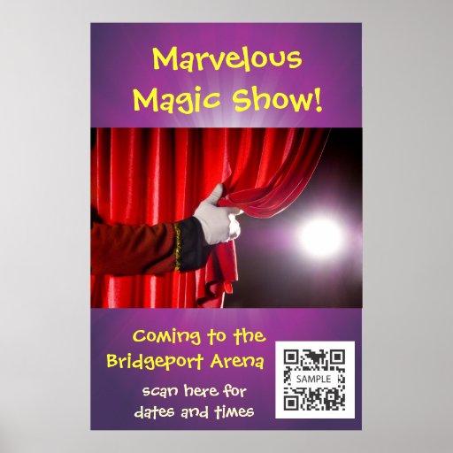 Demostración mágica de la plantilla del poster