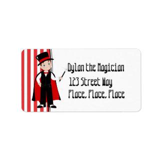 Demostración mágica etiquetas de dirección