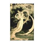Demostración mágica Playbill 1898 Lona Estirada Galerias