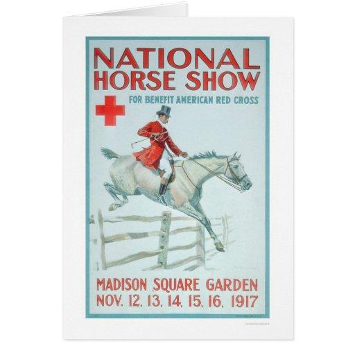 Demostración nacional del caballo para la Cruz Tarjeta De Felicitación