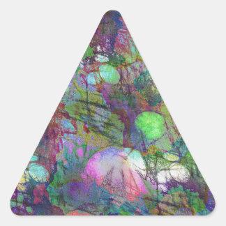 Demostración psicodélica de la luz del cojín de pegatina triangular