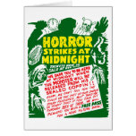 Demostración retra del horror de Halloween del kit Felicitación