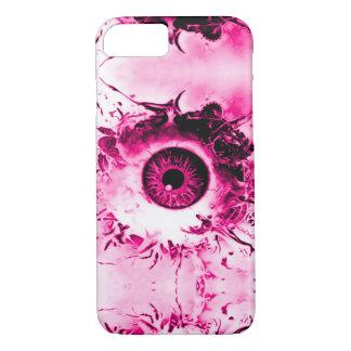 Demostración rosada del horror del vigilante del funda iPhone 7