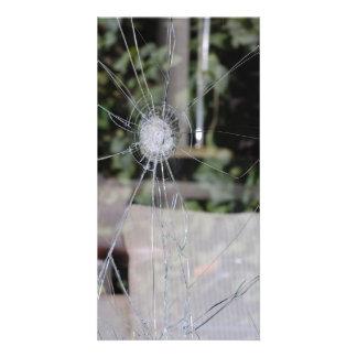 Demostración-ventana quebrada tarjetas personales con fotos