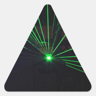 Demostración verde del laser pegatina triangular