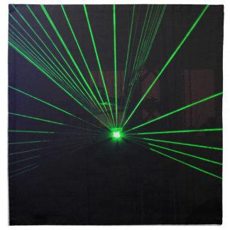 Demostración verde del laser servilletas