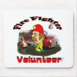 Demostración voluntaria del bombero alfombrilla de raton