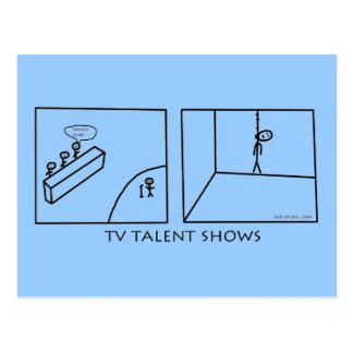 Demostraciones del talento de la TV Tarjetas Postales