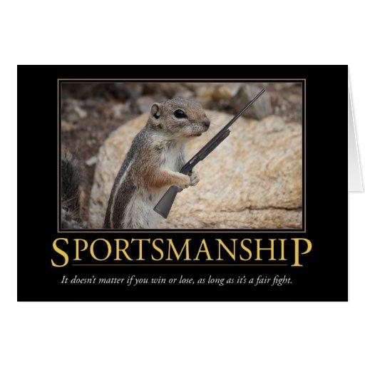 Demotivational Card: Sportsmanship Greeting Card