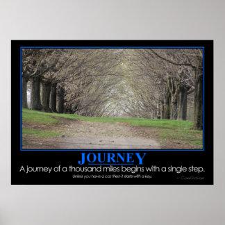 Demotivational: Journey of 1000 miles Poster