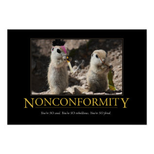 Demotivational Poster: Nonconformity Poster at Zazzle