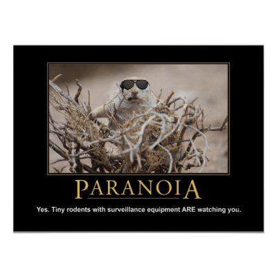 Demotivational Poster: Paranoia