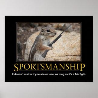 Demotivational Poster Sportsmanship Squirrel Print