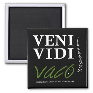 Demotivational Veni, Vidi, Vaco VVVX Magnet