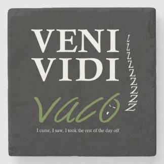 Demotivational Veni, Vidi, Vaco VVVX Stone Coaster
