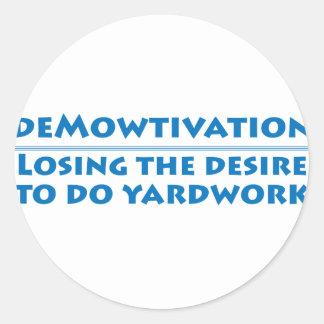 Demowtivation Classic Round Sticker
