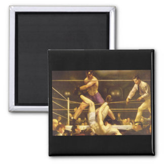 Dempsey and Firpo', George_Art of America 2 Inch Square Magnet