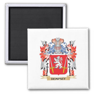 Dempsey Coat of Arms - Family Crest 2 Inch Square Magnet