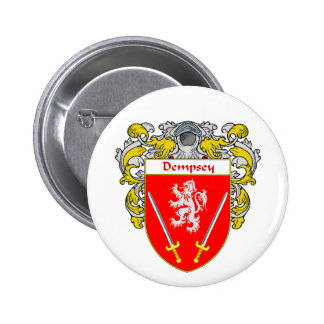 Dempsey Coat of Arms (Mantled) Button