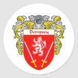 Dempsey Coat of Arms (Mantled) Classic Round Sticker