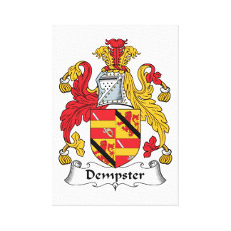 Dempster Family Crest Gallery Wrap Canvas