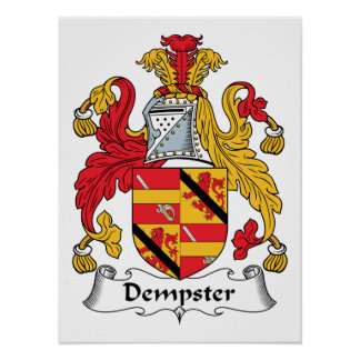 Dempster Family Crest Print