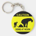 Dems At Work Keychain